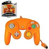 Manette vibrante orange pour console Nintendo Gamecube/Wii