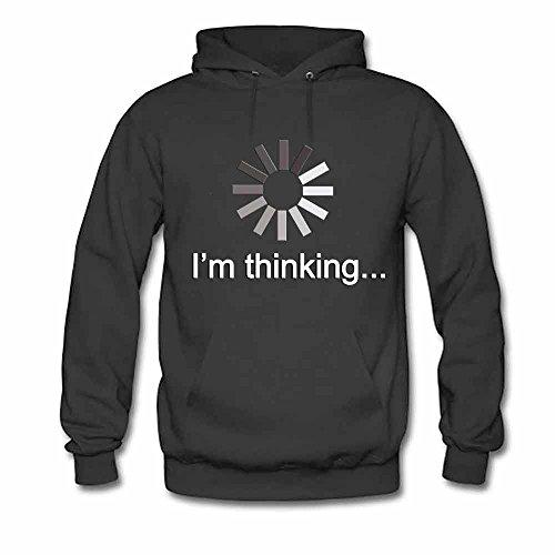 I'm Thinking Please wait Cotton Hoodie Men's Sweatshirt M