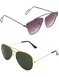 AMOUR Unisex Combo Offer Pack Of UV Protected Cateye & Aviator Stylish Sunglasses For Men Women, Boys & Girls... - B07DCDCBV1