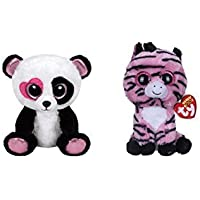 TY Beanie Boos Special Black White Set: Mandy the Panda and Zoey the Zebra,