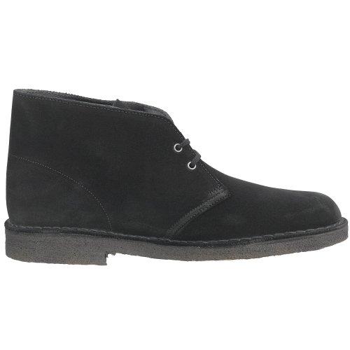 Clarks Originals Men's Desert Boot, Black Suede, 14 M Black Suede