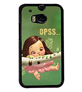 Fuson Cute Doll Back Case Cover for HTC ONE M8 - D3981