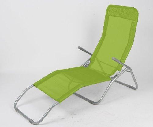 Sonnenliege 160x49x94cm Lime grün Gartenliege Campingliege Saunaliege Badeliege