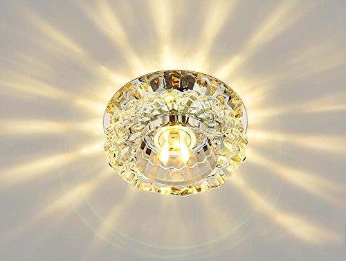 Plafoniera Cristallo Led : Illuminazione ambientale a incasso mini plafoniera led in