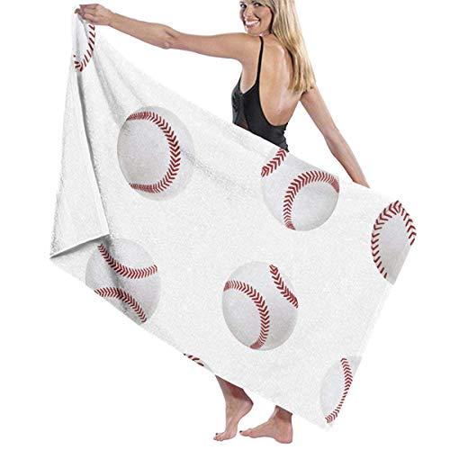 xcvgcxcvasda Serviette de bain, Beach Bath Baseball Personalized Custom Women Men Quick Dry Lightweight Beach & Bath Blanket Great for Beach Trips, Pool, Swimming and Camping 31