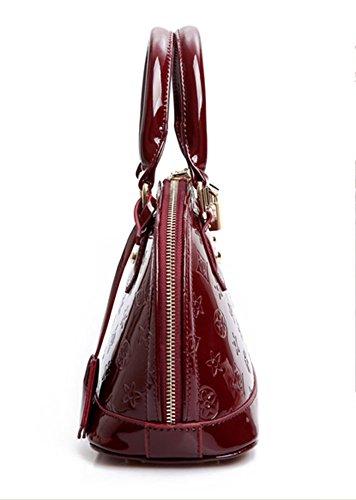 Keral Donne Casuale Elegante PU Pelle Puro Colore Spalla Borse Borsetta Vino Rosso Piccolo