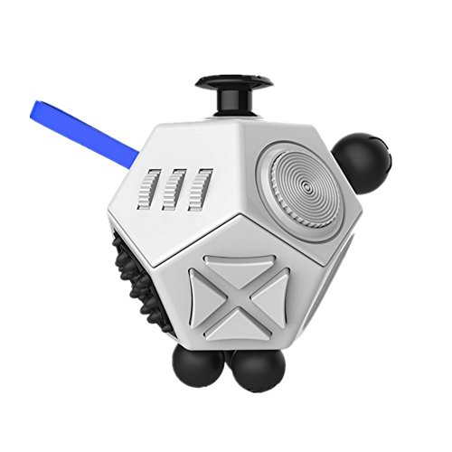 Esoes Fidget Toy -12-Side Fidget Cube Relieves Stress and Anxiety Anti depression cube for Adults Kids Boys Girls with ADHD ADD OCD Autism (A2)