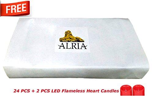 Alria-Led-Candles-Flameless-Smoke-FreeYellowSet-Of-24-Pcs-2-Pcs-Heart-Shaped-Led-Candles