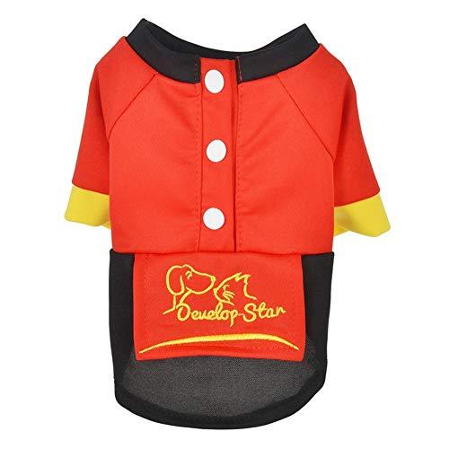 LovelyPet Pet Sommerkleidung Pet Kleidung Puppy Dog Breathable Dünnschliff Frühling Sommer als Bär Teddy Cat Kostüm (Color : Red, Size : XL) (Bären Kostüm Da)