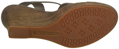 Timberland Cassanna Y-Strap Sandalcanteen Discover, Sandales Compensées Femme Vert (Canteen Discover)