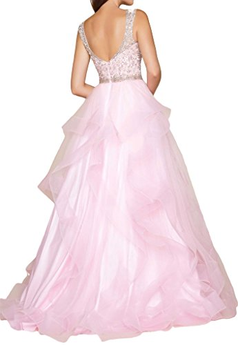 Prom Style Damen Prinzessin Strass Tuell Traeger Ruckenfrei ...
