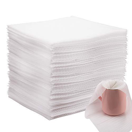 AIEX Schaumfolie Verpackung Seidenpapier Einpackpapier Umzug Packschaum für Kartons Umzug Geschirr Gläser Weinflaschen Versand(100 Stücke,12x12x0.02 Zoll)