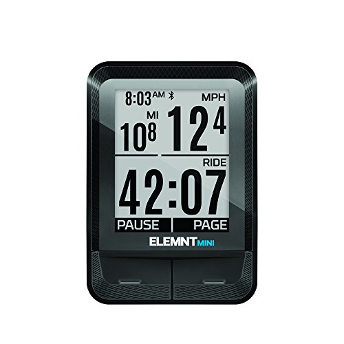 Wahoo Fitness ELEMNT Mini 1.8' Wireless Bicycle Computer Negro - Ordenador para Bicicletas (4,57 cm (1.8'), Coin, 1 año(s), 41 mm, 17 mm, 58,4 mm)