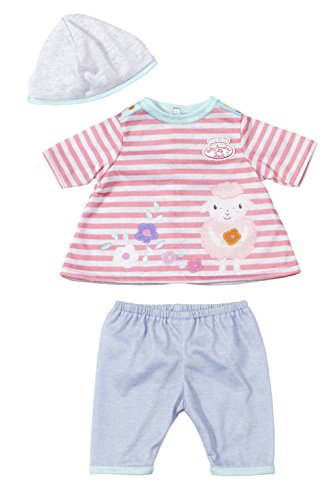 Zapf Creation 794746 - my first Baby Annabell Spiel OutFit easy Fit, Gestreiftes Shirt, blaue Hose