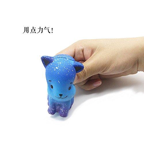 (Rosennie Jumbo Super Squishy Toys Cute Lila/Galaxy Loving Kätzchen Panda Slow Rising Duft Stress Relief lindern Super Weich Für Kinder und Erwachsene Spielzeug (Sternenhimmel))