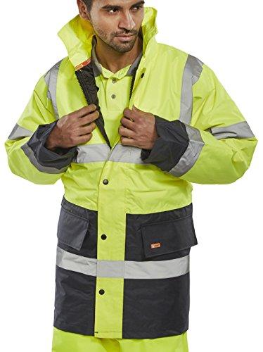 Bseen Safety Jacket Saturn Yellow/Navy Medium