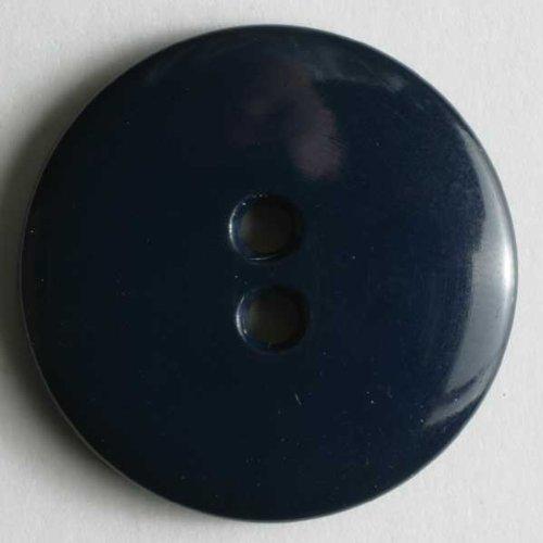 3 Stück: Modeknopf - Größe: 23mm - Farbe: blau