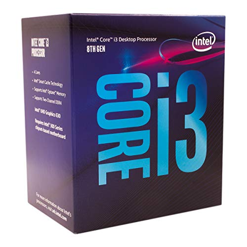 Intel 65W 300 Serie Core i3-8100 Coffee Lake Quad-Core 3,6 GHz LGA 1151 Intel UHD Grafik 630 Desktop-Prozessor Modell BX80684I38100
