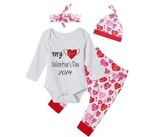 aby Boy Girl Brief Strampler Tops Hosen Hut Set Valentine Outfits, Neugeborenen Kleinkind Baby Mädchen Jungen Camouflage Bogen Tops Hosen Outfits Set Kleidung ()
