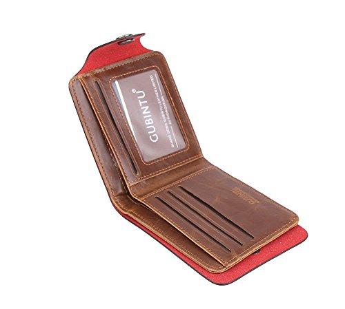 Genda 2Archer Herren Soft-Tasche Bifold Brieftasche Vintage-Knopfverschluss ID Kreditkarteninhaber (Style 5) Style 3