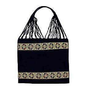 Einkaufstasche Boho San Angel 'dunkelblau'; Handgewebt, Handtasche, HANDARBEIT, Tasche, Geschenkidee für Frauen