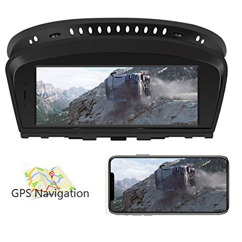 AXNYLHY 8 8 inch Navigation System for Cars, BMW 5 Series Car GPS Spoken  Turn- to-turn Navigator,Support Google Maps online, iGo, Sygic, 3D maps