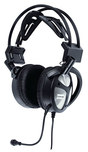 Eurosell - Highend USB Gamer Gaming PC Computer Headset Kopfbügel Kopfhörer + Mikrofon + Bass-Vibrationsregelung
