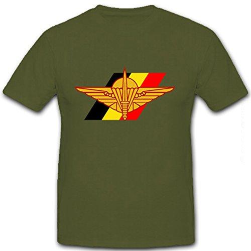 Belgische Fallschirmjäger Brigade Militär Wappen Abzeichen Emblem - T Shirt Herren oliv #8600