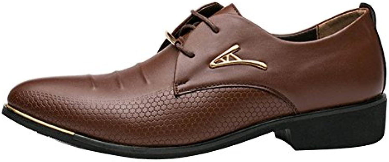 Spitzschuh Schuh Männer Herren PU Leder Verursachende Oxford Schuhe für Hochzeits Geschäft und Tägliche Abnutzung