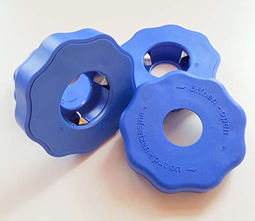 GLZ-Innovation GmbH EasyDrehFix Flaschenöffner Aufschraubhilfe Öffnungshilfe Senioren(Blau)