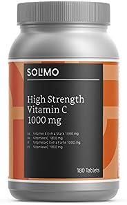 Marchio Amazon- Solimo Integratore alimentare di vitamina C extra forte1000 mg con bioflavonoidi da agrumi, 18