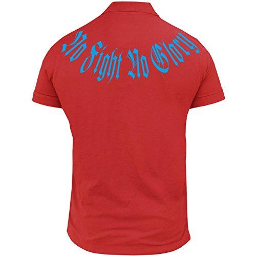 Männer und Herren POLO Shirt Smile now (blue edition) mit Rückendruck Rot