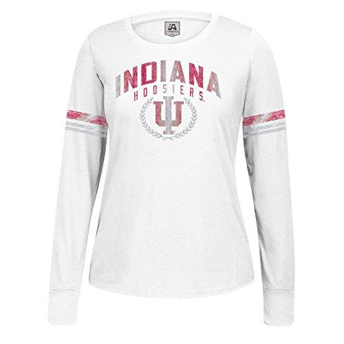 J America NCAA Damen Laurel Essential Long Sleeve Tee, Damen, Long Sleeve Essential Tee, weiß, XX-Large - Laurel Long Sleeve