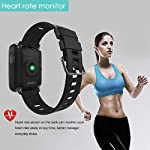 Smart WatchYAMAY Bluetooth Smartwatch Waterproof IP68 Fitness Tracker Watch With Heart Rate Monitor Pedometer Sleep Monitor Stopwatch SMS Call Notification Remote Camera Music For IOS Android Phone