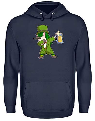 St. Patricks Day Shirt Dabbing Einhorn Unicorn Leprechaun Bier Day Irisch Kobold Kostüm - Unisex Kapuzenpullover Hoodie -XL-Oxford Navy