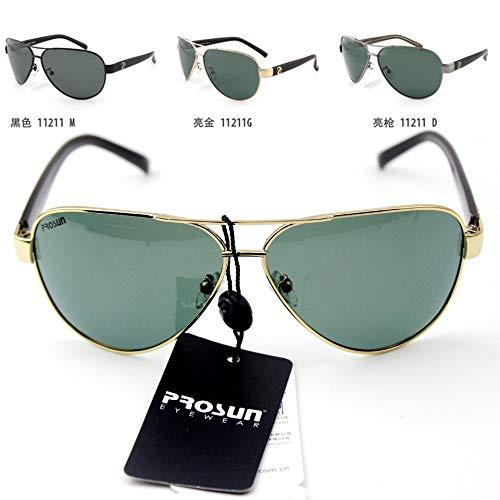 CBDGD Neue Männer Sonnenbrillen Sonnenbrillen Fahrer Sonnenschirm Gezeiten polarisierte Brille Frosch Spiegel männlich authentisch Sonnenbrille (größe : Gold Frame with Packaging)