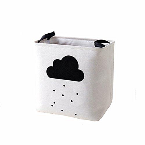 e Spielzeugkiste Große Wäschekorb Aufbewahrungsbox Aufbewahrungskorb Stoffbox für Schrank oder Schublade - Wolke (Organisation Der Lagerplätze)
