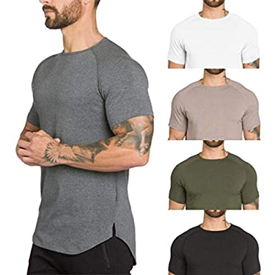 Gym T Shirts for Men,Overdose Men's Gyms Crossfit Bodybuilding Fitness Muscle Short Sleeve T-Shirt Top Blouse
