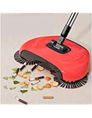 Shoppoworld Sweep Drag All-In-One Household Hand Push Rotating Sweeping Broom, Room And Office Floor Sweeper Cleaner Dust Mop Set