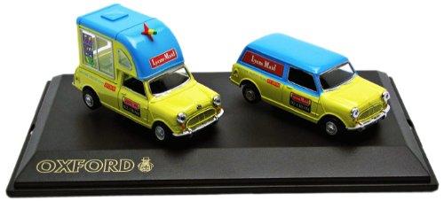 oxford-set28-miniature-veicolo-modello-in-scala-a-austin-mini-set-lione-cameriera-ice-cream-scala-1-