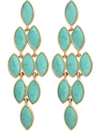 Ohrhänger NEU Ohrringe Hänger Neu Pailletten türkis blau grün groß elegant Style