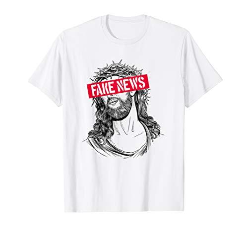 Blackcraft-Antichristhemd Jesus Fake News Skeptic Atheist T-Shirt