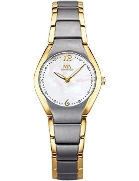 Meister Anker Damen Quarzuhr Titan 21cm rot Uhren Quartz Mineralglas 490000094