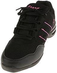 Zapatos De Danza Deportivos Modernos Zapatos De Baile Jazz Elegante Para Mujeres Señoras - Negro y rosa, 39