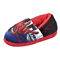 Spiderman Boys Novelty Character Slippers - Easy Fit Slip On Style