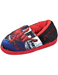 on sale 3dd70 b25e9 Spiderman Boys Novelty Character Slippers - Easy Fit Slip On Style