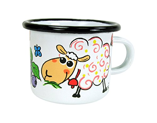 ABA, 6 x 5 cm, motivo: Sheep Mug (piccolo, multicolore