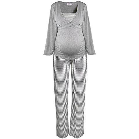 HERZMUTTER -  Pijama premamá de embarazo y lactancia, Rope de dormir
