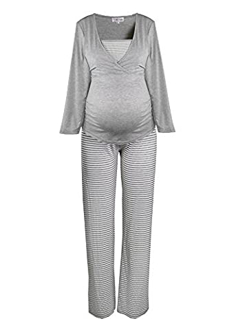Comfortable maternity pajamas-nightwear for pregnant women by HERZMUTTER. Garments in