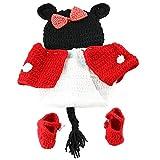 Lindo bebé foto fotografía Prop ropa para 0 – 6 meses bebé recién nacido rojo rosso Talla:estándar